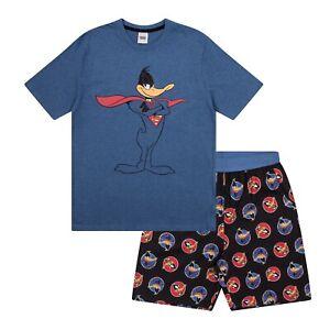 Looney Tunes Space Jam Taz Daffy Duck Elmer Fudd Official Mens Short Pajamas