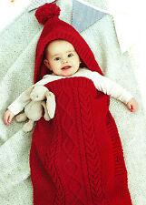 baby cocoon sleeping bag and sleeveless sleeping bag dk Knitting Pattern
