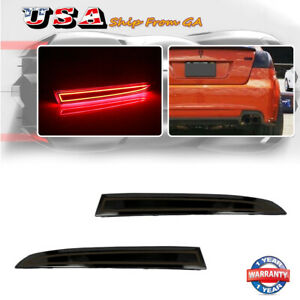 Smoked Lens Rear Bumper Reflector LED Tail Brake Lights For 2008 2009 Pontiac G8