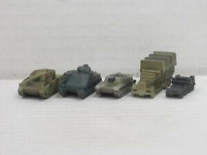 Militärfahrzeuge aus Weißmetall, o.OVP, Skytrex/Mercator, ca. 1:200/220, Set 7