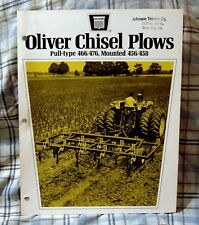 Vintage Oliver Corporation Chisel Plows Advertising Brochure-Ca 1963!