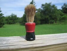 """Made Rite Sterilized Pure Badger 300Pb"" Red and Black Handled Shaving Brush"