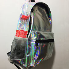 New Fashion Girls' Hologram Holographic School Backpack Women Tote Travel Bag