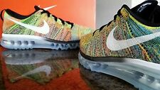 NIKE FLYKNIT MAX..MULTI-COLOR.. SIZE MEN 9.5/or WOMEN 11.. SUPER FAST SHIPPING!!