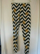 Black white gold chevron Snowflake Leggings Lounge pants super soft