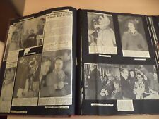 OLD VINTAGE NEWPAPER MAGAZINE tuck NEWS LARGE SCRAPBOOK 50S ROYALTY CHURCHILL
