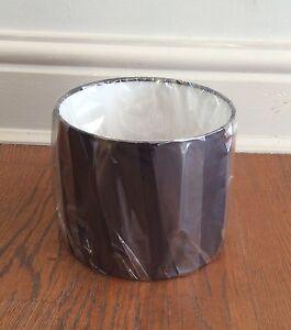 Christopher Wray 13cm (h) x 15.5cm (dm) drum shaped lamp shade in black silk