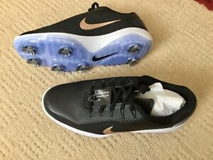 NIKE REACT VAPOR 2 LADIES BLACK & GOLD WATERPROOF GOLF SHOES UK 5
