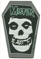 MISFITS coffin shaped 2002 - WOVEN SEW ON PATCH official merch - no longer made
