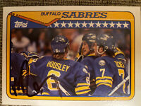 Phil Housley Sabres 1990 Topps Autograph Card