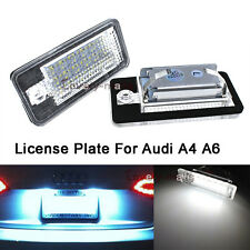 NEWEST 2pcs White LED License Number Plate Light For AUDI A6 C6 S6 RS6 2005-2009