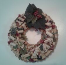 Large Wine Cork Wreath, Never Used, Hand Crafted, Beautiful Decor!