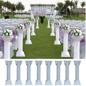 8x Wedding Plastic Pillar Adjustable PVC Column Extension Base Tall Flower Stand