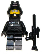 LEGO NEW SWAT TEAM MINIFIGURE POLICE COP FIGURE SUNGLASSES GUN SECRET OPS