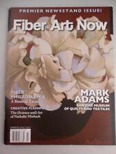 Fiber Art Now Magazine Premier Issue RARE 2012 Wool Silk Rugs Quilt Artist