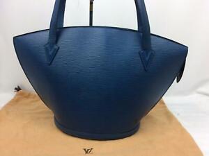 """Auth LOUIS VUITTON Epi Saint Jacques Shoulder Tote Bag Blue 7G180240N"""""""