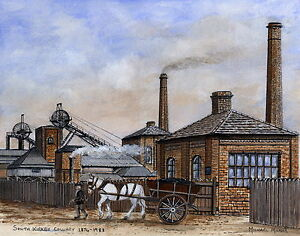 South Kirkby Colliery - 1874 - 1988 - Ltd Ed Print - Pit Pics - Coal Mining