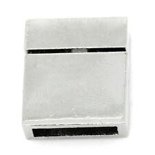 5 Fermoirs Magnétiques Rectangle Bijoux Accessoire moins Brillant 21x17mm