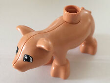 *NEW* Lego DUPLO Flesh BABY PIG Black EYES