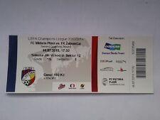 Ticket VIKTORIA PLZEN - ZELJEZNICAR SARAJEVO 13/14 Champions League Czech Bosnia