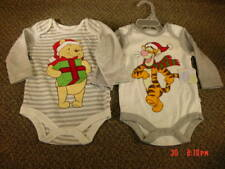 New Nwt 2 Disney Christmas Cotton Creeper 0-3 month Tigger Pooh Baby Sleeper