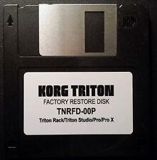 Korg Triton Rack/Triton Studio/Pro/Pro X Factory Bank Preload Reset Disk - NEW