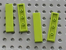 4 x LEGO tile lime 1 x 4 ref 2431 / Set 8108 7133 7163 8963 8960 7586 4589 ....