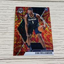 2019-20 Zion Williamson Mosaic Gold/Red Sticker - New Orleans Pelicans - NBA 🔥