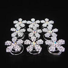 12 Pcs Wedding Bridal Prom Crystal Rhinestone Flower Twists Spins Hair Pins