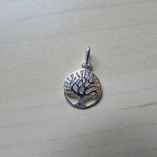 Plata Esterlina (925) Árbol de la vida Redondo Clásico encanto de filigrana/Colgante 12mm