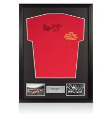 Enmarcado Alan Ball firmado ganadores de la Copa del Mundo 1966 Camiseta autógrafo Jersey