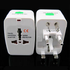 US to EU Europe and Universal AC Power Plug World Travel Adapter Converter EN