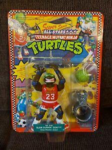 Vintage TMNT Teenage Mutant Ninja Turtles Slam Dunkin Don 1991 Unpunched MOC