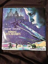 """Johnny Depp Signed / Autographed """"Edward Scissorhands"""" LaserDisc"""