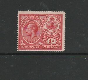 Bahamas 1920 peace 1d Wmk Crown to Right & reversed, MM SG 107y, cat £375
