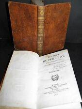 PERE ROY Lettres CHINE Missionnaire EDITION ORIGINALE 2 Tomes Relié COMPLET 1822