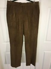 Pronti Collection - Gorgeous Ultra Suede Brown Pants - Size 14