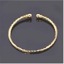 Simple Cuff Bangle 18k Gold Filed Platinum Plated Bracelet Fashion Jewelry