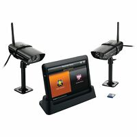 "Uniden GUARDIAN G755 Wireless Surveillance System with 7"" MONITOR & 2 CAMERAS"