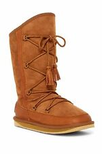NIB Australia Luxe Collective Norse in Chestnut Shearling Lined Lace-up Boot 5