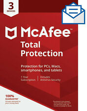 McAfee Total Protection 3 Devices  1 year!MAC,Win,Android 2020-same day delivery