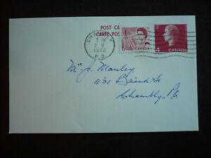 Postal History - Canada - Post Card - Scott# 457 & UX98a