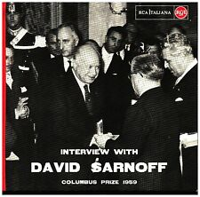 17949  INTERVIEW WITH DAVID SARNOFF COLUMBUS PRIZE 1959