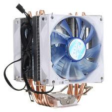 LED Dual CPU Cooler Fan Heatsink for Intel Socket LGA1156/LGA1155/LGA775 AMD AM3