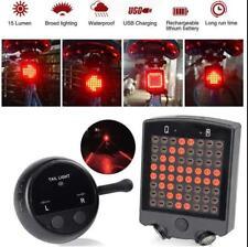 Rechargeable LED Tail Light Turn Signal Rear Lamp Brake Light E-bike Bicycle NEW