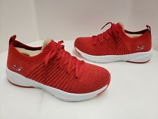 Womens SKECHERS MERIDIAN SAVVY WIND Stretch Fit Air Cooled Memory Foam 13024 RED