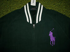$145 POLO-RALPH LAUREN Varsity Football Fleece Jacket (XXL)  BIG PONY