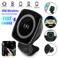 Qi Wireless Car Cellphone Fast Charger Magnetic Holder Universal Mount Dashboard