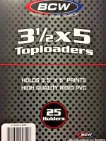 "(25) BCW 3.5"" x 5"" Toploaders 3 1/2"" x 5 1/8"" Card Holder - Transformers TCG"