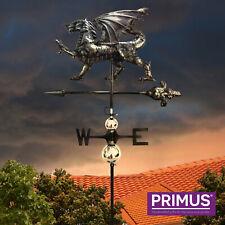 Primus 3D Welsh Dragon Stainless Steel Weathervane + Garden Stake Weather Vane